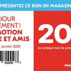 pharmaprix coupon20 240x240 - Promotion famille et amis de Pharmaprix: 20% de rabais sur presque tous les produits