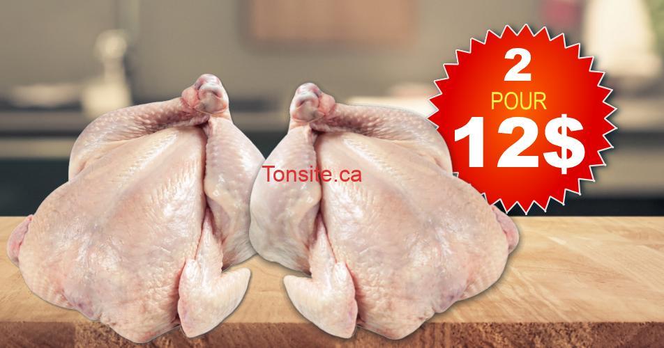 poulet 2 12 - Emballage de 2 poulets entiers à 12$ seulement!