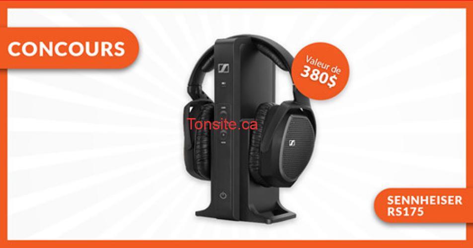 sennheiser concours - Gagnez votre casque d'écoute Sennheiser RS175!