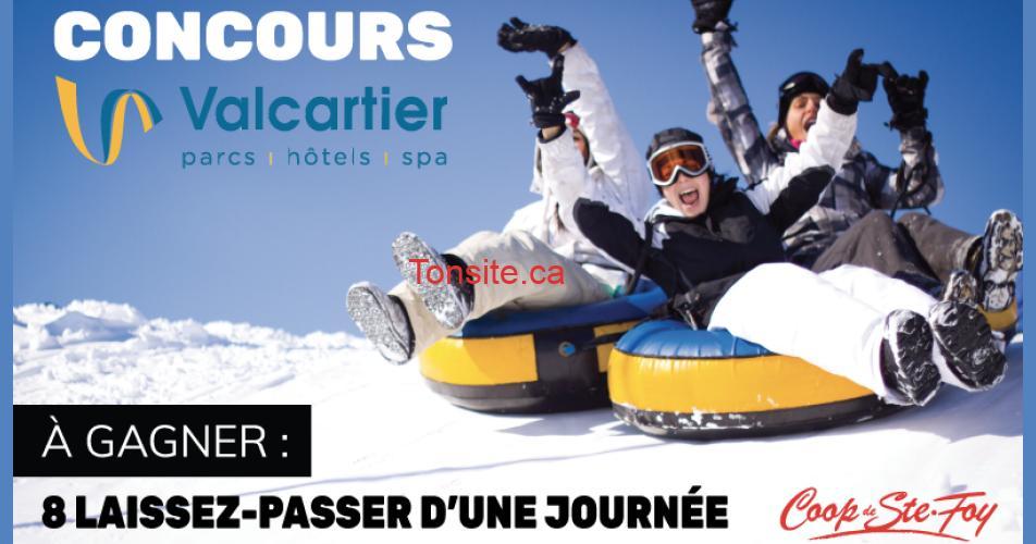 val cartier concours - 8 laissez-passer d'une journée au Village Vacances Valcartier à gagner!