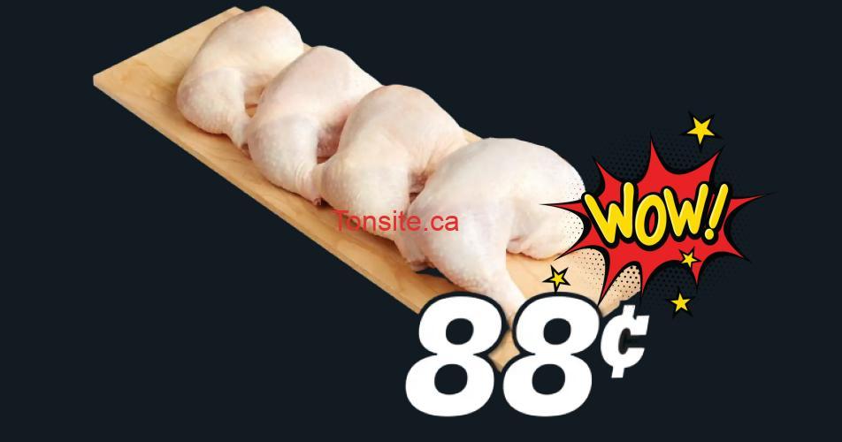 cuisses 88 - Cuisses de poulet frais à 88¢ la livre seulement!