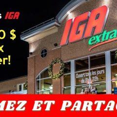 iga 200 000 240x240 - Concours IGA: 200,000$ en prix à gagner!
