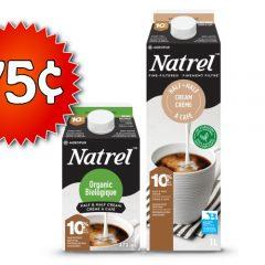 natrel 75 240x240 - Coupon rabais de 75¢ sur une crème Natrel finement filtrée ou biologique
