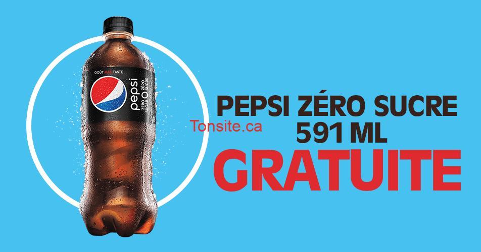 pepsi zero gratuite - Obtenez une Pepsi Zéro 591 mL GRATUITE!