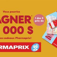 pharmaprix concours1 240x240 - Gagnez 1 des 3 prix de 10 000$ en cartes-cadeaux Pharmaprix