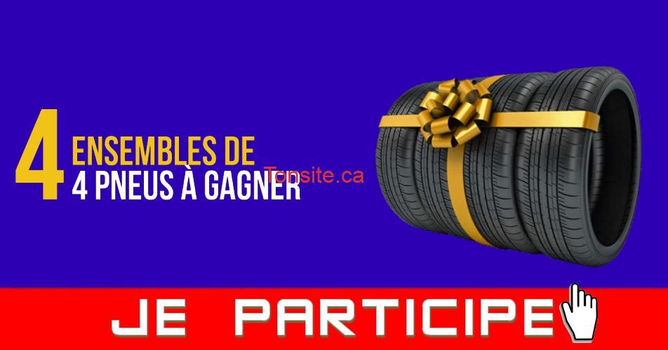 pneus 4 concours - 4 ensembles de pneus à gagner!