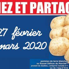 pommes de terre1 240x240 - Sac de pommes de terre (10 livres) à 1,98$ au lieu de 4,99$