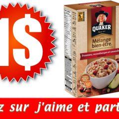 quaker1 3.49 240x240 - Gruau instantané Quaker à 1$ au lieu de 4.49$