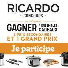 ricardo concours 240x240 - Gagnez 4 ensembles cadeaux de produits Ricardo (4 gagnants)