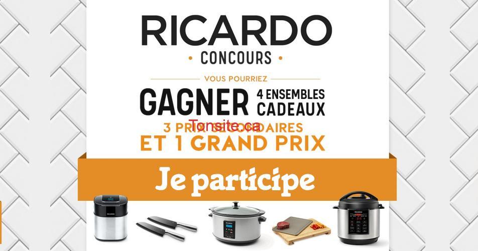 ricardo concours - Gagnez 4 ensembles cadeaux de produits Ricardo (4 gagnants)