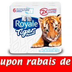 royale tiger towel coupon1 240x240 - Coupon rabais de 1$ sur tout produit Royale Tiger Towel