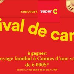 super c concours cannes 240x240 - Concours Super C: Gagnez un voyage familial à Cannes d'une valeur de 6000$