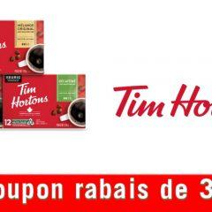 tim coupon3 240x240 - Économisez 3,00 $ à l'achat de deux [2] emballages de capsules K-Cup de café [12 capsules] ou de thé [12 capsules] Tim Hortons