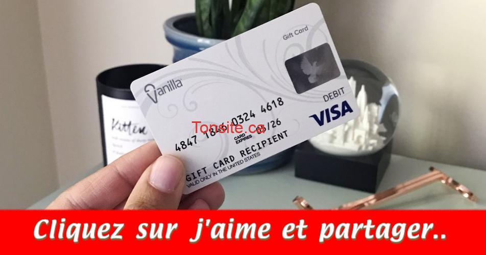 visa concours - Gagnez une carte prépayée Visa de 500$