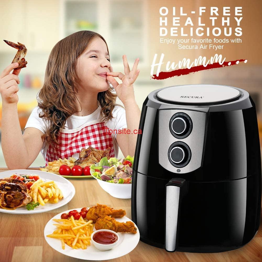 71yHq73yOqL. AC SL1001  1 - Friteuse à air chaud sans huile Extra large 5.2L Secura à 69,99$ au lieu de 129,99$