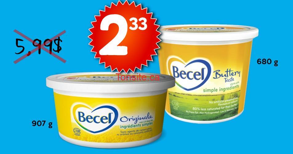 becel 233 599 - Margarine Becel à 2,33$ au lieu de 5,99$