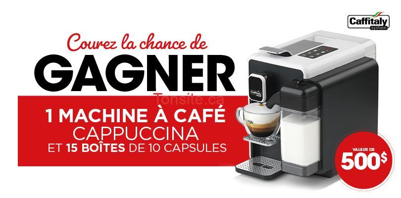 cappuccina - Gagnez 1 machine à café Cappuccina et 15 boîtes de 10 capsules (valeur de 500$)