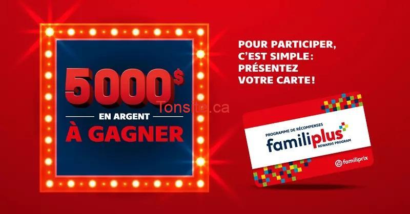 concours gagnez 5 000 grace a familiprix - Concours Familiprix: un lot de 5000$ en argent comptant à gagner!