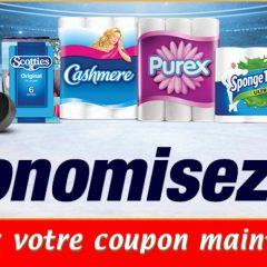 kruger coupon1 240x240 - Coupon rabais de 1$ sur les produits Cashmere, Purex, SpongeTowels ou Scotties