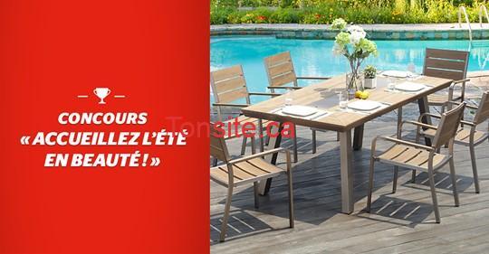 mobilier jardin - Concours Brault & Martineau: Gagnez ce mobilier de jardin d'une valeur de 1599$