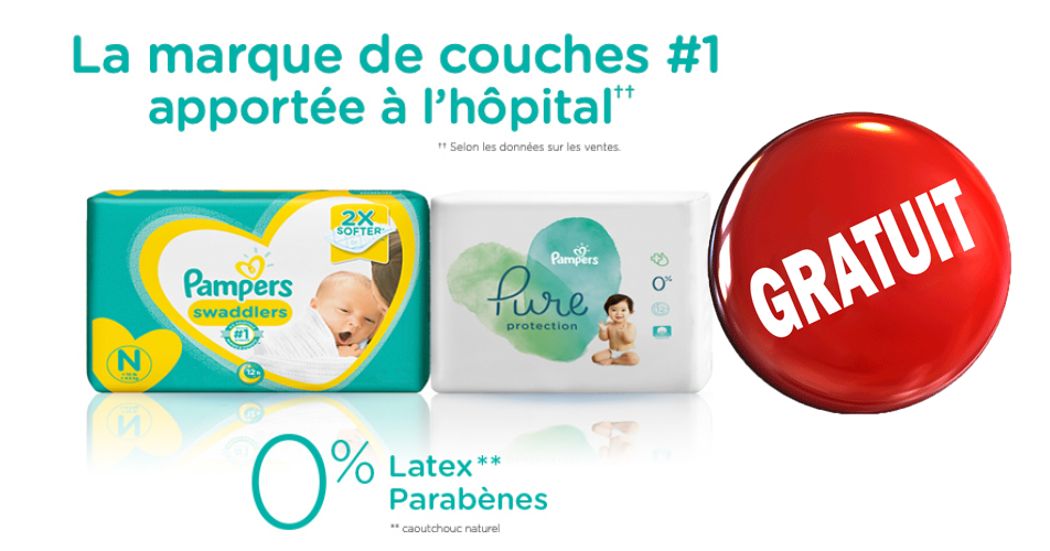 pampers gratuit