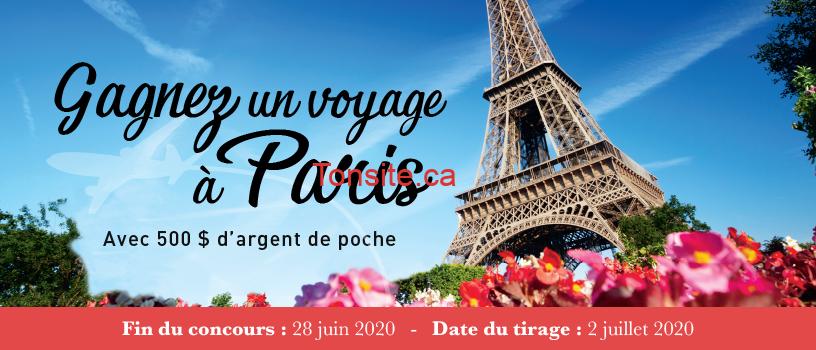 paris concours - Concours Linen Chest: Gagnez un voyage à paris avec 500$ d'argent de poche