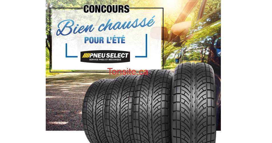 pneus concours - Gagnez un ensemble de 4 pneus d'été ou pneus toutes saisons d'une valeur de 1 000$