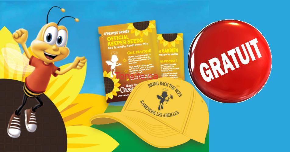 seeds free - Obtenez votre sachet GRATUIT de semences de tournesol et une casquette GRATUITE!