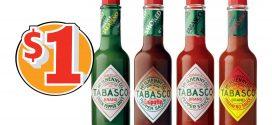 Coupon rabais de 1$ sur tout produit Tabasco