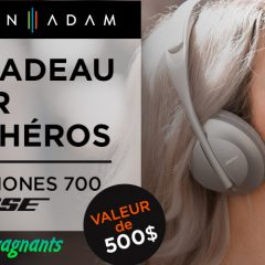 bose concours 240x240 - Gagnez un casque d'écoute Headphones 700 de BOSE (1 gagnant par jour pendant 1 mois)