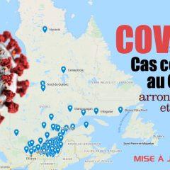 carte covid 19 quebec 240x240 - Une carte qui montre le nombre de cas de COVID-19 par arrondissement dans la province de Québec