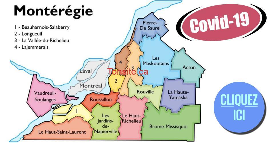 covid 19 monteregie - COVID-19: Cas confirmés au Québec (par région, ville et arrondissement...)