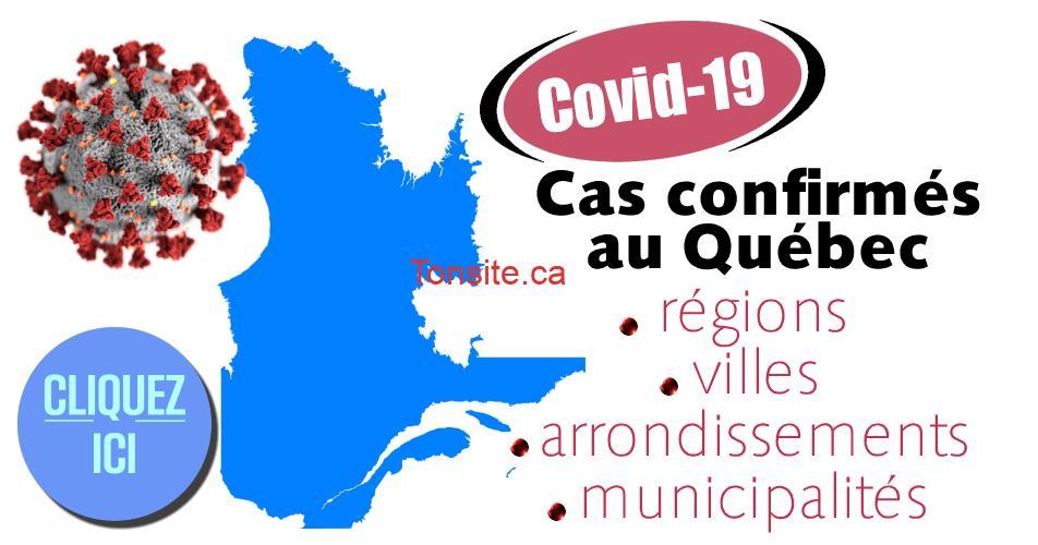 covid 19 quebec - COVID-19: Cas confirmés au Québec (par région, ville et arrondissement...)