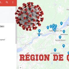 covid 19 region quebec 240x240 - Une carte qui montre le nombre de cas de COVID-19 par arrondissement dans la grande région de Québec