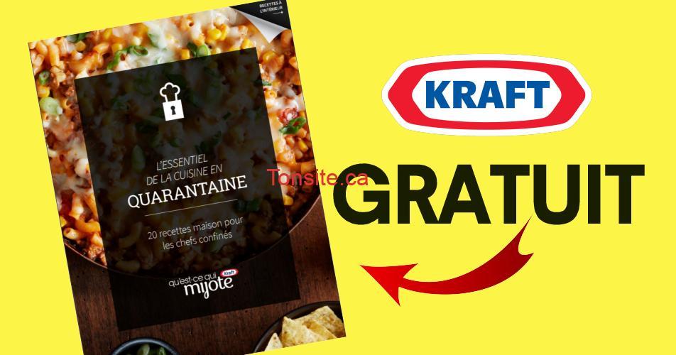 kraft livre gratuit - Obtenez GRATUITEMENT le livre de recettes essentiel pour le confinement de Kraft