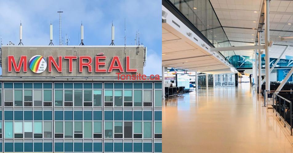 montreal yul - (Photos): L'aéroport de Montréal vide et désert et ça donne l'impression qu'on est seuls au monde!