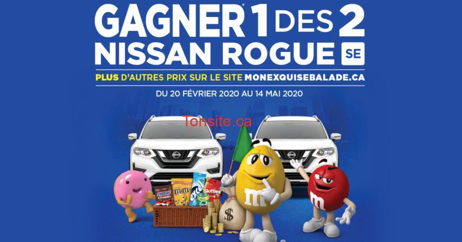 nissan mms - A gagner: 2 Nissan Rogue SE 2020, 50 cartes-cadeaux Loblaws et 5 chèques de 1000$