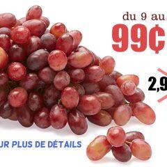 raisin 99 240x240 - Raisin Rouge Sans Pépins à 99¢ la livre seulement!