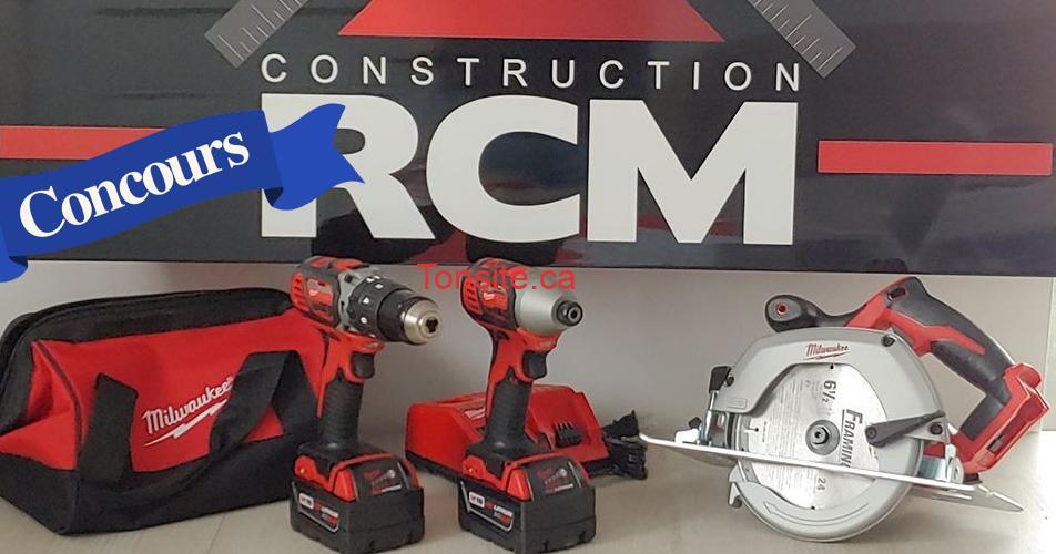 rcm concours - Gagnez un Ensemble de trois outils sans fil M18