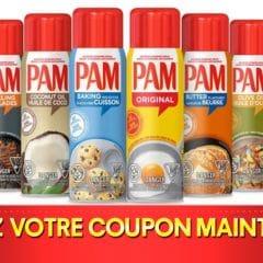 PAM coupon 240x240 - Coupon rabais de 1$ sur un enduit antiadhésif pour la cuisson PAM (110 g à 170 g)