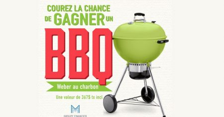 bbq weber - Gagnez un BBQ Weber au charbon (valeur de 367$)