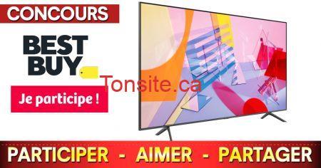 bestbuy concours - Gagnez un incroyable téléviseur QLED 4K de 65 pouces de Samsung