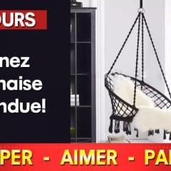 chaise suspendue 240x240 - Gagnez une chaise suspendue noir!