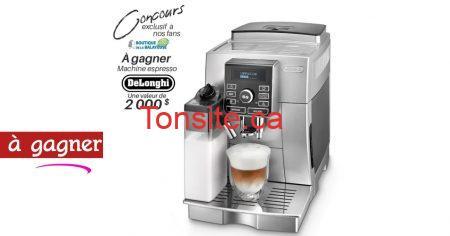 delonghi concours2 - Une machine espresso De'Longhi, d'une valeur de 2 000 $ à gagner!