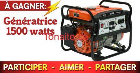 generatrice concours - Gagnez une génératrice Ducar 1500 watts!