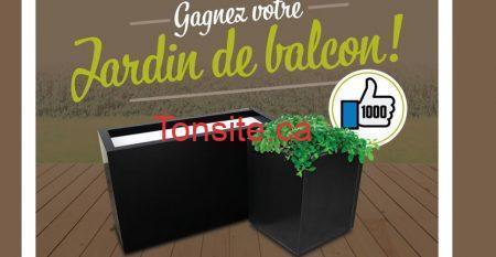 jardin de balcon concours - Participez et gagnez votre jardin de balcon