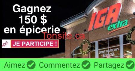 Photo of Participez et gagnez une carte-cadeau IGA de 150$