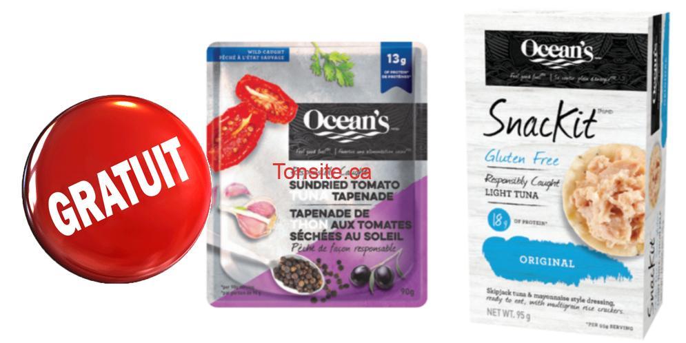 Photo of Gratuit sur tout produit aromatisé Ocean's Sachet de thon ou SnacKit de thon