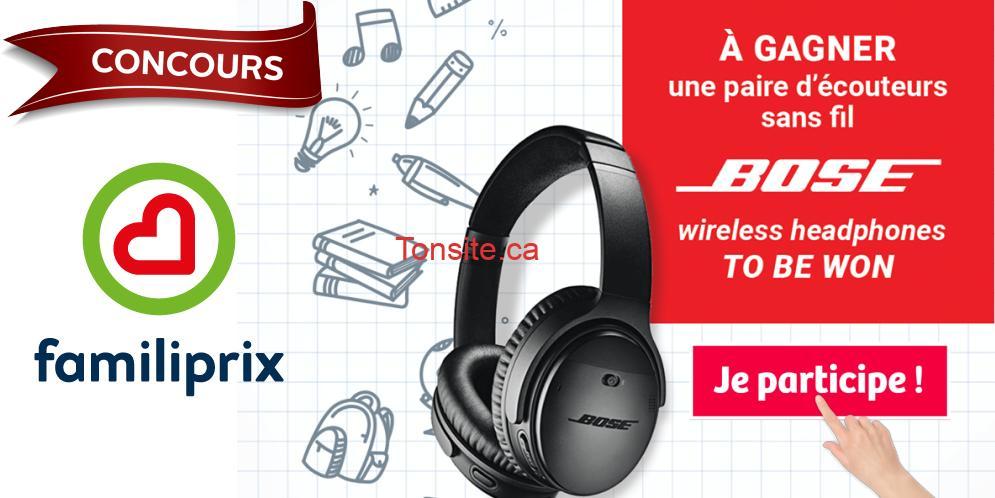 Photo of Concours Familiprix: Gagnez une paire d'écouteurs sans fil BOSE