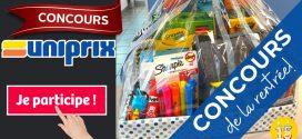 Concours Uniprix: Gagnez un panier cadeau rempli de fournitures scolaires d'une valeur approximative de 90$!